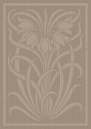adornos florales. Silueta de flores. Figura ramo en forma de una plantilla o recorte con el cartón. fondo del vector