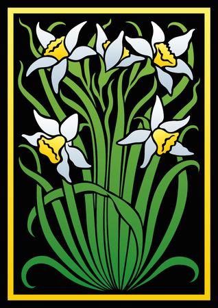 adornos florales de colores. Silueta de flores. Figura ramo en forma de una plantilla o apliques. fondo del vector