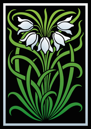 adornos florales de colores. Silueta de flores. Figura ramo en forma de una plantilla o de recorte. fondo del vector