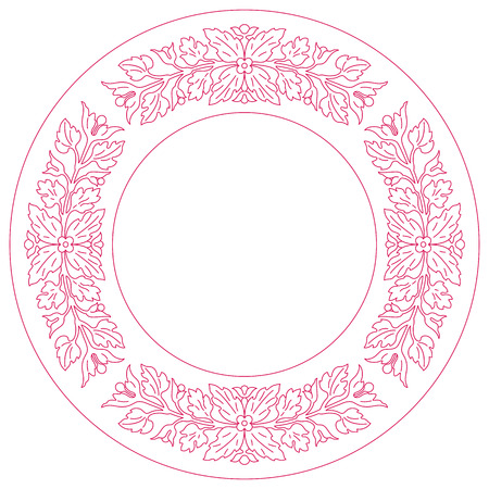 inlay: Elegance round lace ornament, inlay ornament. Vector file