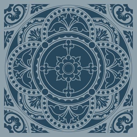 sacraments: Decorative round lace, circle ornament. Symmetric composition, seamless background. Vector illustrations.