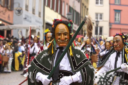fasnet: Carnival, Rottweil, Germany Stock Photo