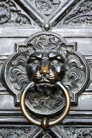 Cathedral Cologne - door knocker photo