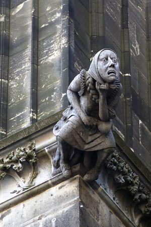 gargoyle stone Stock Photo