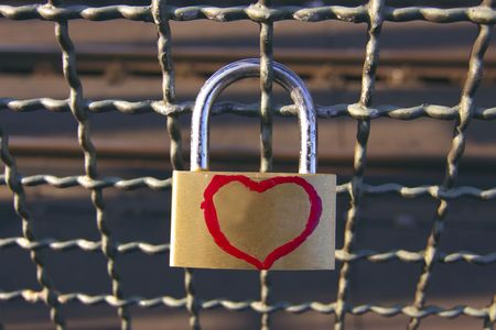 broken trust: Padlock of love
