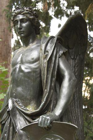 engel: Bronze figure in a park in stuttgart