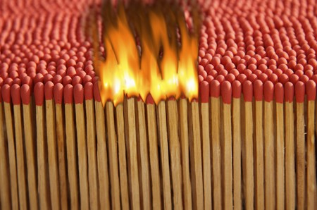 Matches in the series with fire
