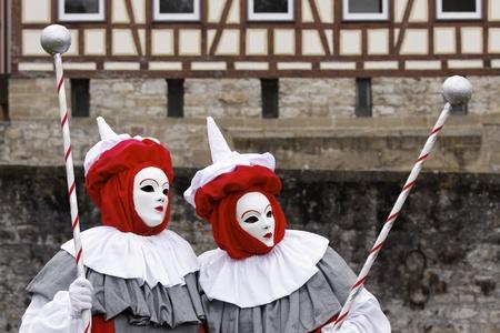Venice Carnival Costumes Stock Photo - 9072705