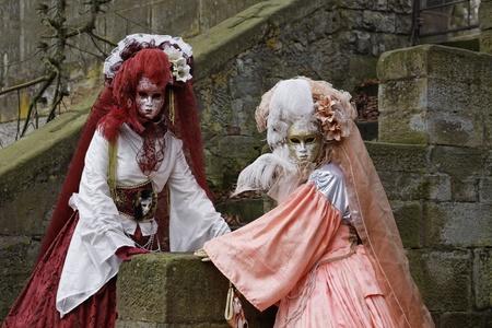 Venice Carnival Costumes Stock Photo - 9072773