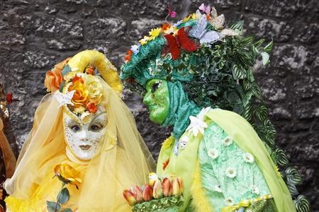 Portrait of beautiful Ornate female Mask  photo