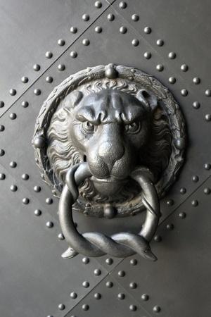 with lion's head door knocker photo