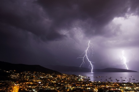 thunderstorms over the basement in turkey photo