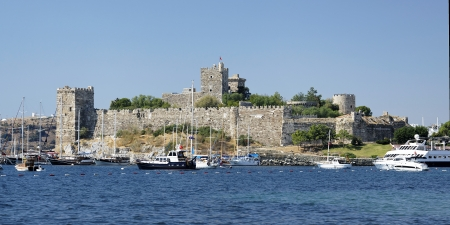 bodrum and the castle in turkey Stock Photo