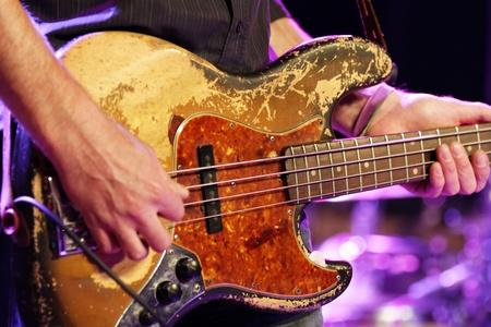 guitar in concert Stock Photo