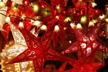 flor de pascua: Mercado de Navidad de Stuttgart