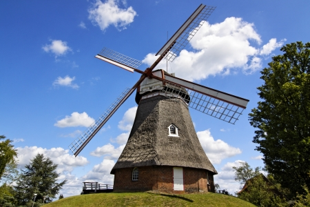 industrie: windmill in Northern Germany