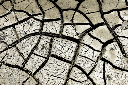 deficient: Dry soil - Less Rain Stock Photo