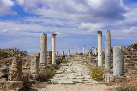 Historical Salamis in Northern Cyprus Stock Photo
