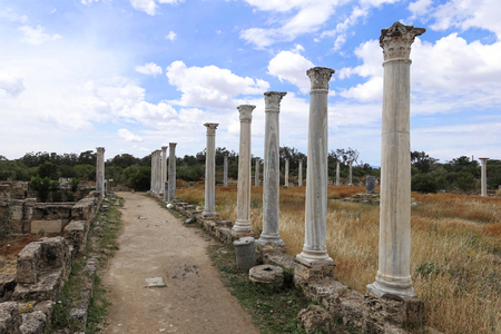 Columns in the historic Salamis - Northern Cyprus