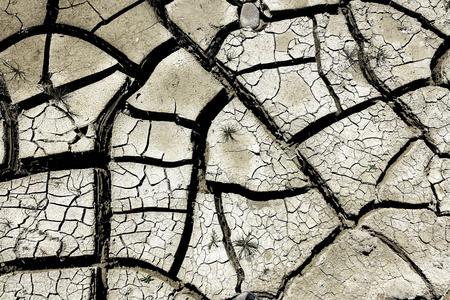 Dry soil - Less Rain Stock Photo