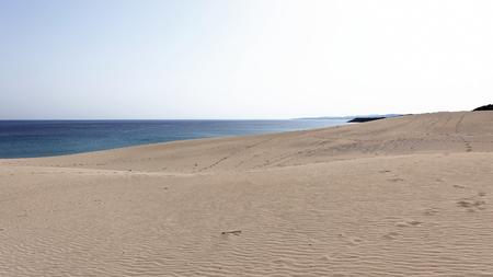 Sandy beach in Northern Cyprus - Golden Beach Stock Photo