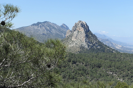 High mountain in Alevkaya in Northern Cyprus