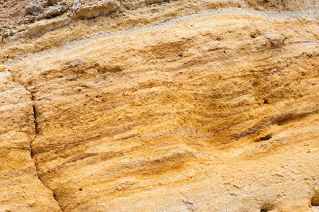 gold textures: The texture of yellow sandstone closeup