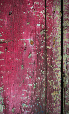 Old natural wood texture with cracked paint, abstract background photo