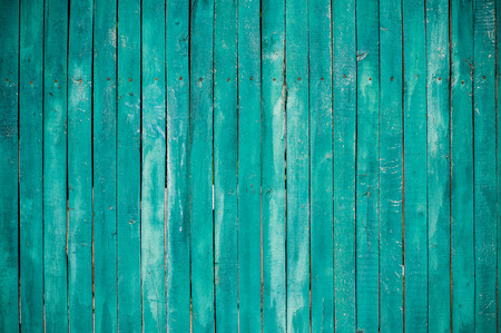 turquesa: Textura de un verde tablones de madera, pared del granero brillante, estilo r�stico Foto de archivo