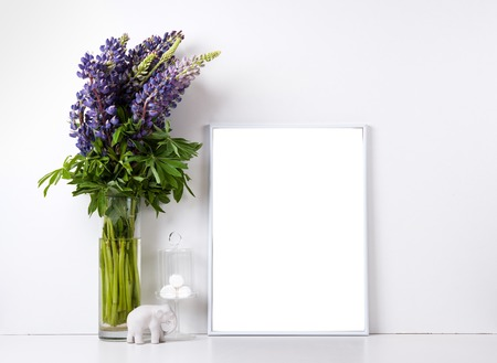 프레임과 내부 개체, 디자인 준비 포스터 모형 현대 가정 장식 스톡 콘텐츠