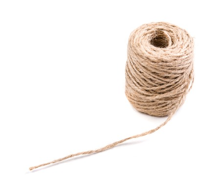 twine: New spool of craft twine on a white background