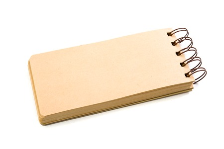blank note: New blank paper note pad on a white background