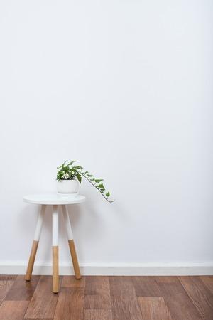 스칸디나비아 홈 인테리어 장식, 간단한 장식 개체와 가구, 미니멀 화이트 룸