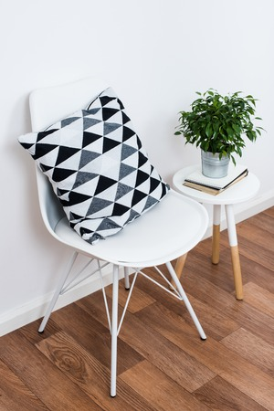 decoration objects: Scandinavian home interior decoration, simple decor objects and furniture, minimalist white room