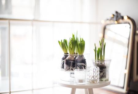 decor: minimalist room decor Stock Photo