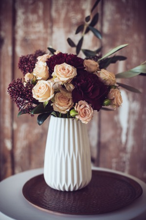 arrangements: Bouquet of roses and carnations