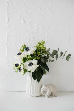 flower arrangement: Elegant bouquet of anemones Stock Photo
