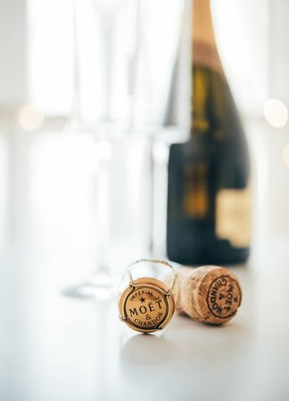 ODESSA, UKRAINE - January 30 2018: Moet & Chandon Champagne cork Фото со стока - 132420570
