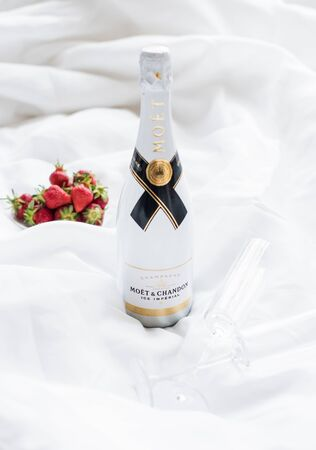 Odessa, Ukraine - May 23, 2018: Moet and Chandon Ice Imperial cham Фото со стока - 132420586