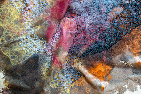 Abstract texture of real wet colorful paint