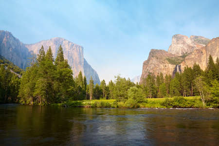Merced River meadows, Yosemite Valley, Yosemite National Park, California, USA photo