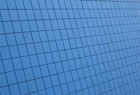 diagonal: Blue painted wall, photographed on the diagonal