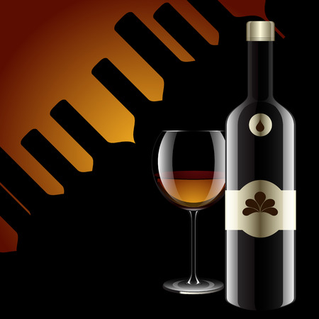 glass reflection: Realistic vector bottles  glass and reflection luxury style with bottle background  Illustration