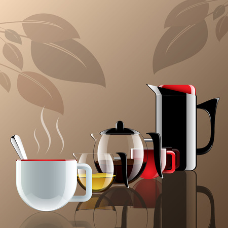 Coffee tools element realistic style  Clear vector illustration  Vector