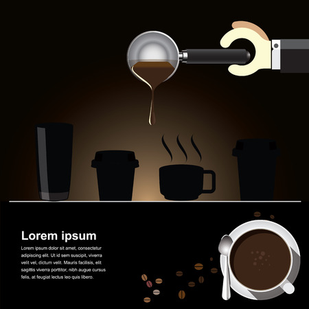 Coffee brew  Background  clear vector illustration  Vector