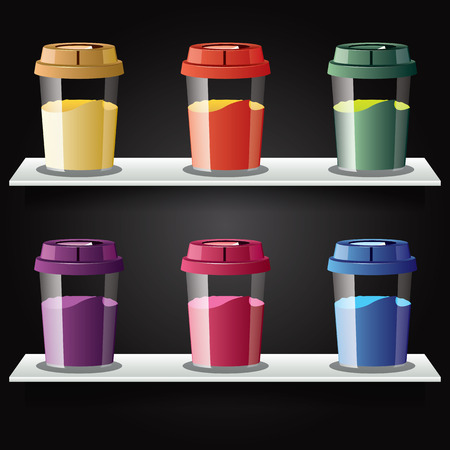 Colorful cup of coffee object  clear vector illustration  Vector