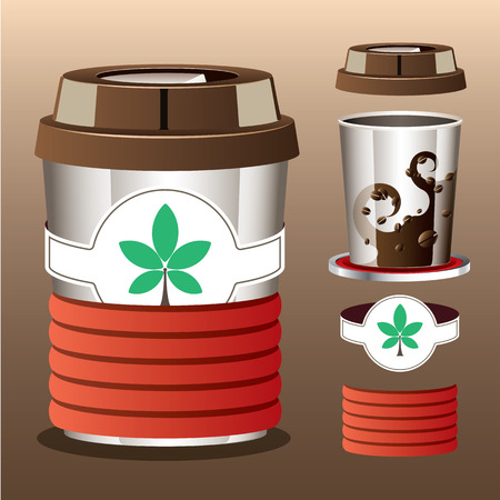 Transform cup of coffee background  vector illustration  Vector