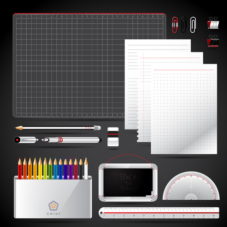 School tool set back to school  vector illustration  Vector