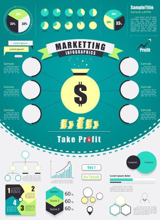 Vintage marketing infographics element. vector illustration. Vector