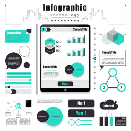 Technology infographics element concept. vector illustration eps10. Vector